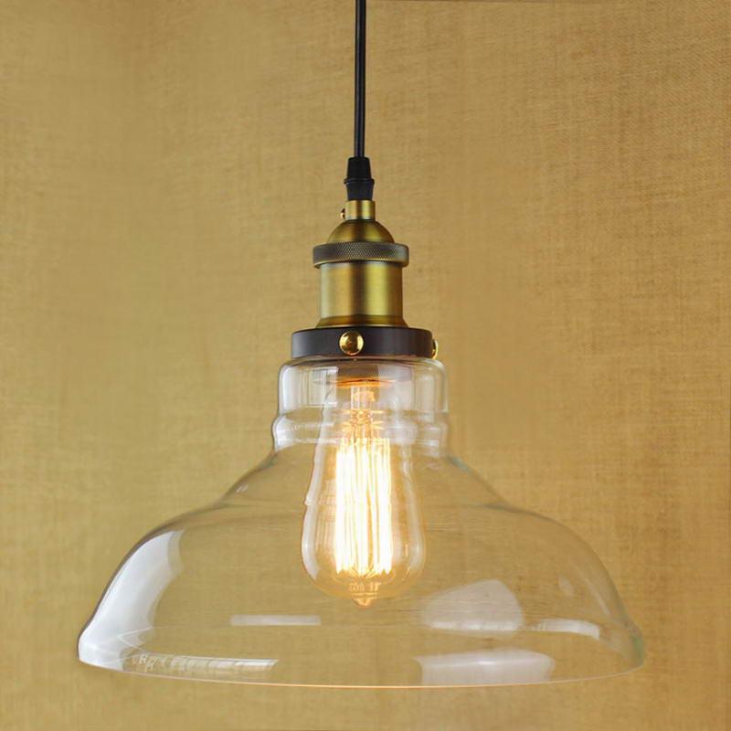 Retro Vintage Nostalgic Style Edison Bulb Glass Pendant