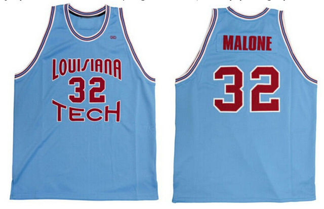 best service 6c9af a1a5f Louisiana Tech Bulldogs Throwback #32 Karl Malone Jersey ...