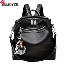 Женский рюкзак классический медведь волосы шар Декор PU кожаный рюкзак путешествия школьные Молодежные кожаные рюкзаки для девочек-подростков mochila
