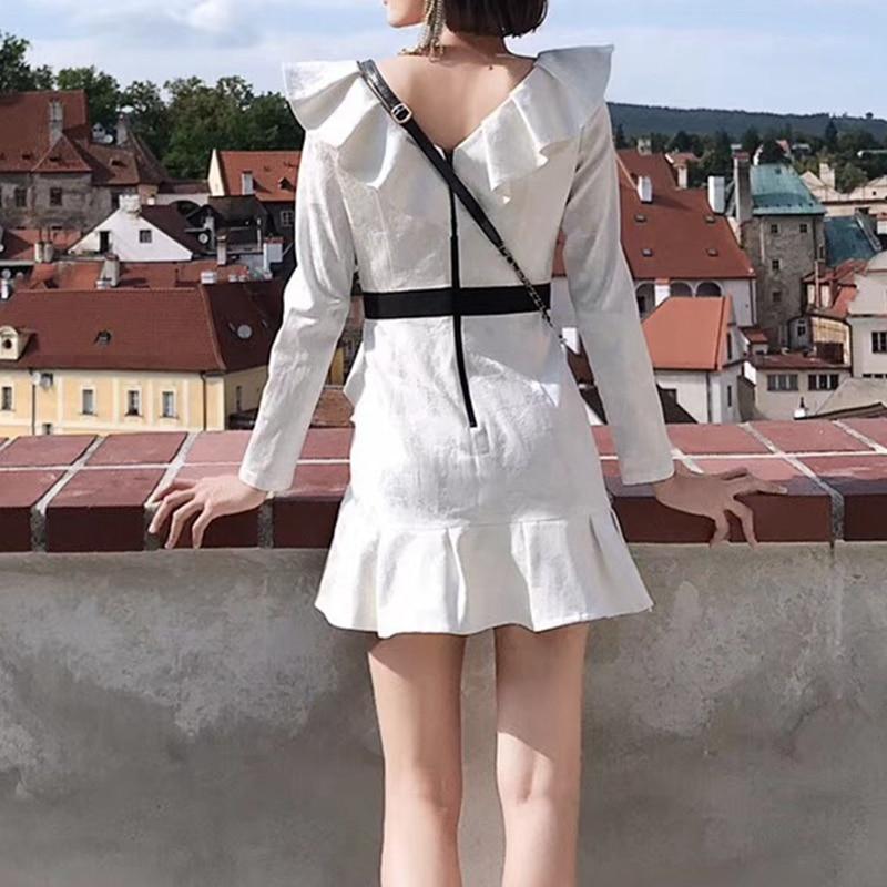 Robes As Courtes Longues À Automne 2018 Volants Femme Robe Picture Manches Designer pw4qvYZ