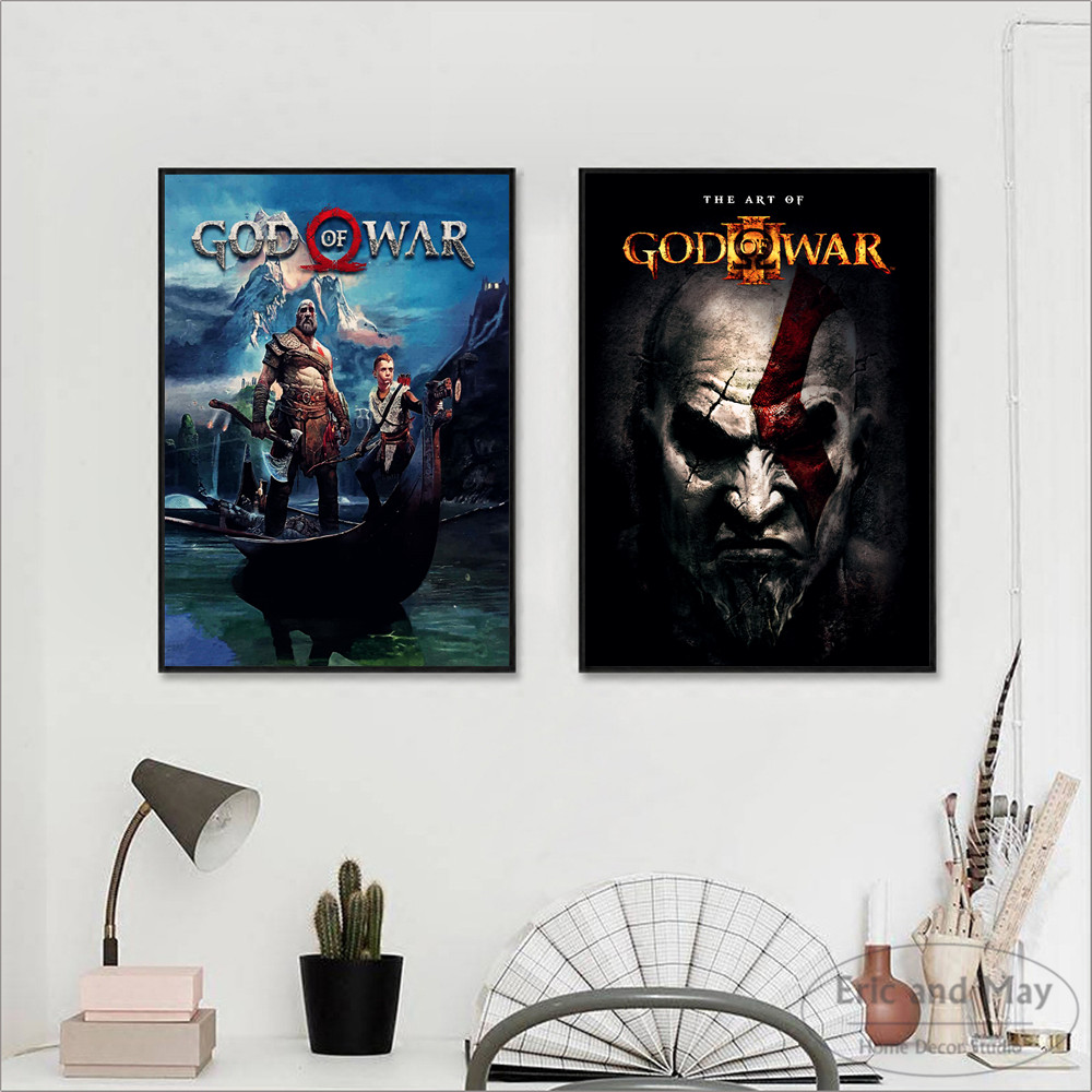 God Of War Video Game Figure Posters And Prints Canvas Printed Painting Art Wall Pictures Home Decor For Living Room Decoration image