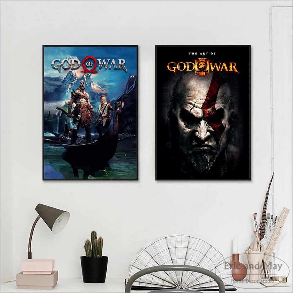 God Of War Video Game Figure Posters And Prints Canvas Printed Painting Art  Wall Pictures Home Decor For Living Room Decoration