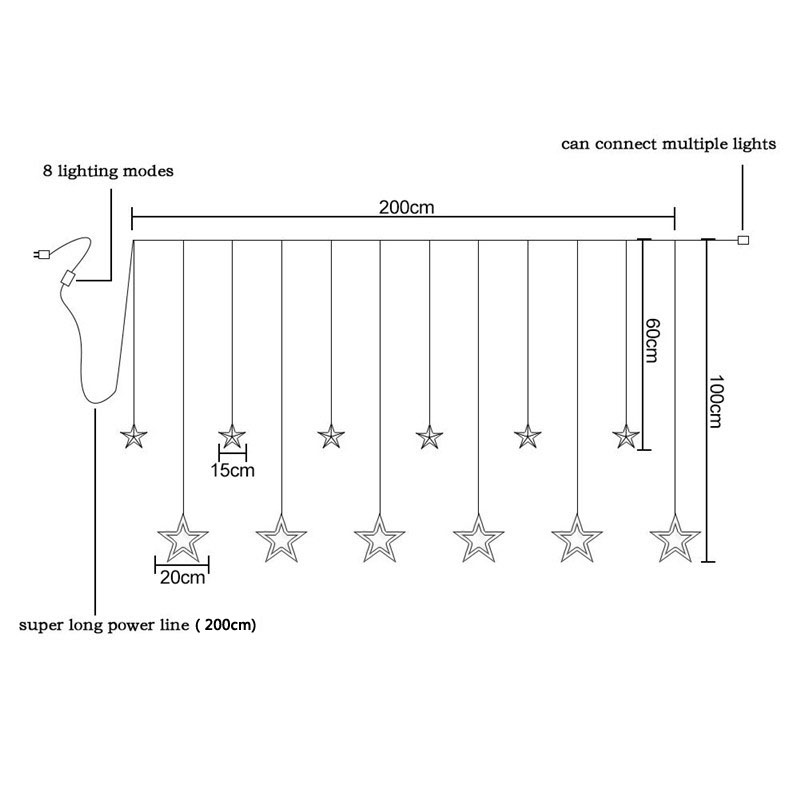220v Ac Operated Christmas Light Star Circuit Schematic Diagram - GO