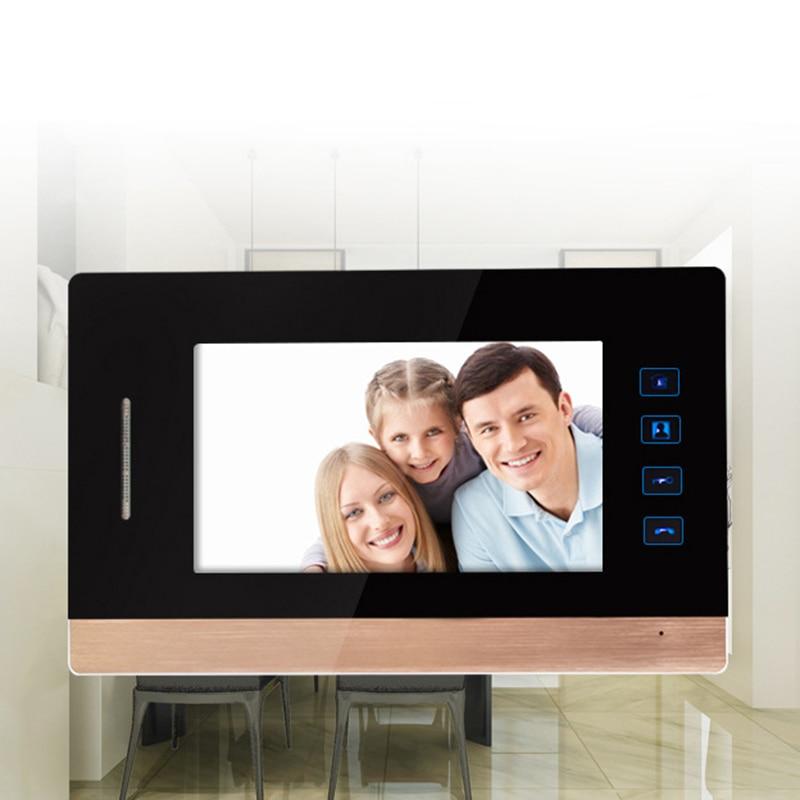 7 Inch Video Door Phone Recording Hd 1000Tvl 1 Ir Night Vision Doorbell Camera Hands Free Monitor Home Video Intercom Doorbell in Doorbell from Security Protection