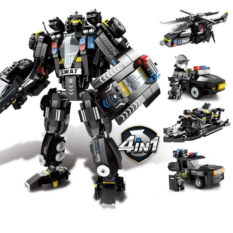 Precise 763pcs 4in1 Childrens Educational Building Blocks Toy Compatible Legoings City Black Hawk Special Forces Black Hawk Mech Gifts Do You Want To Buy Some Chinese Native Produce? Blocks
