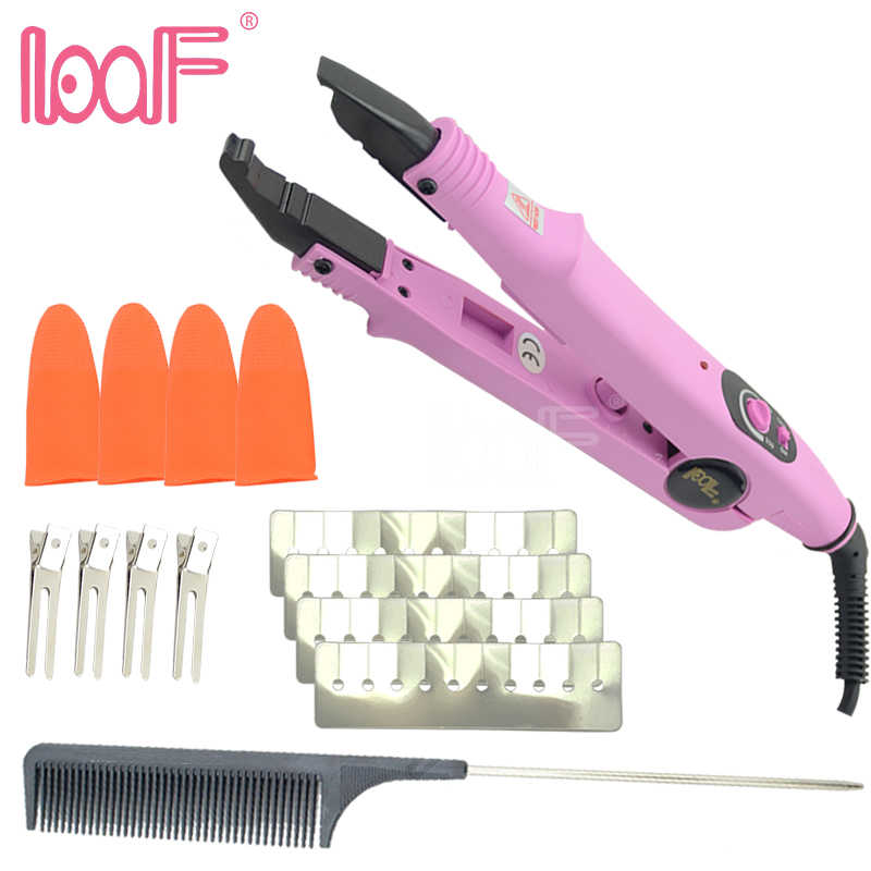 LOOF JR611 Fusion Hair Connector Kits For Capsule Hair Extension Tools Wand Iron Melting A B C Tip Black Pink Available