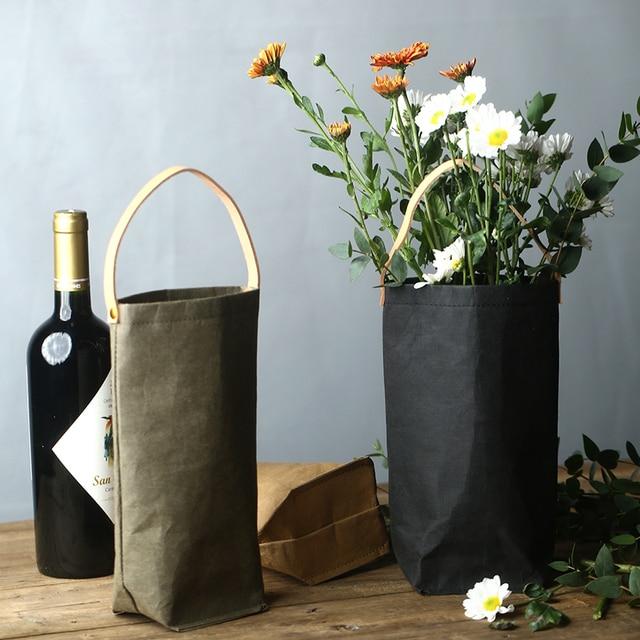 Моющаяся бумага для рукоделия сумка для хранения Скандинавии длинная секция растения растут бумага разное для хранения цветов пакет для хранения пива органайзер для дома