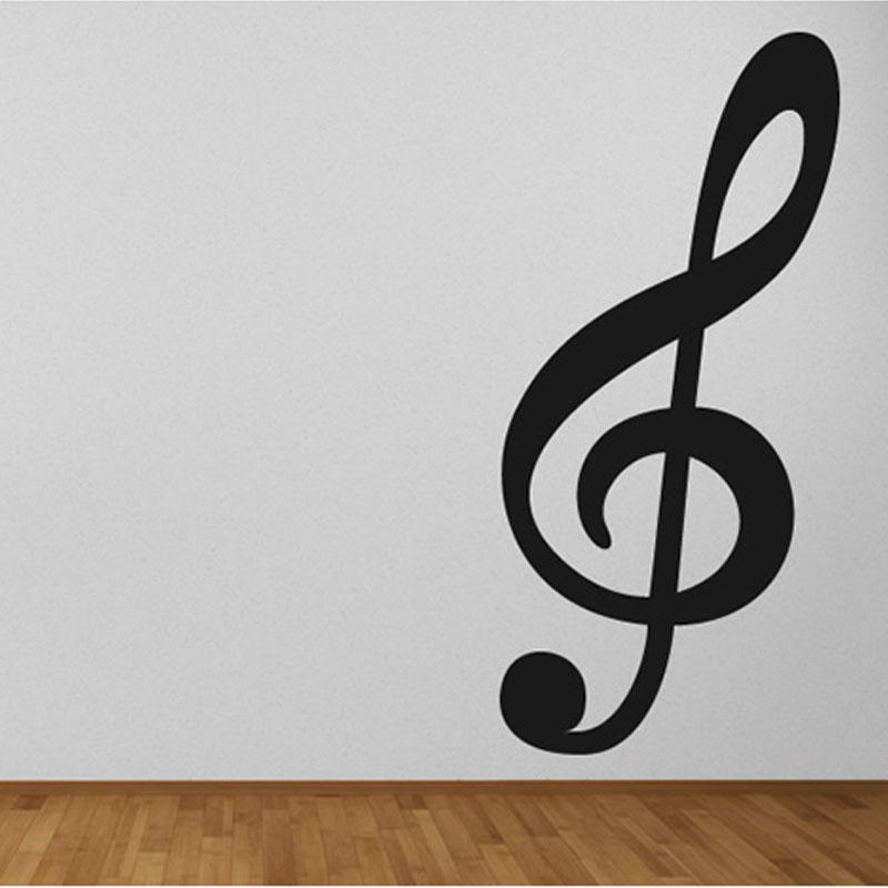 Large Size Treble Clef Musical Note Wall Decals Vinyl ...