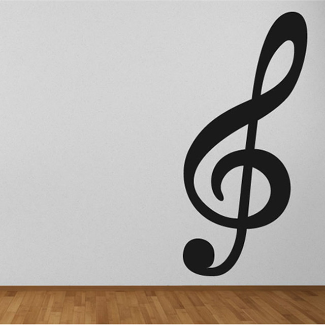 Large Size Treble Clef Musical Note Wall Decals Vinyl Removable Wall