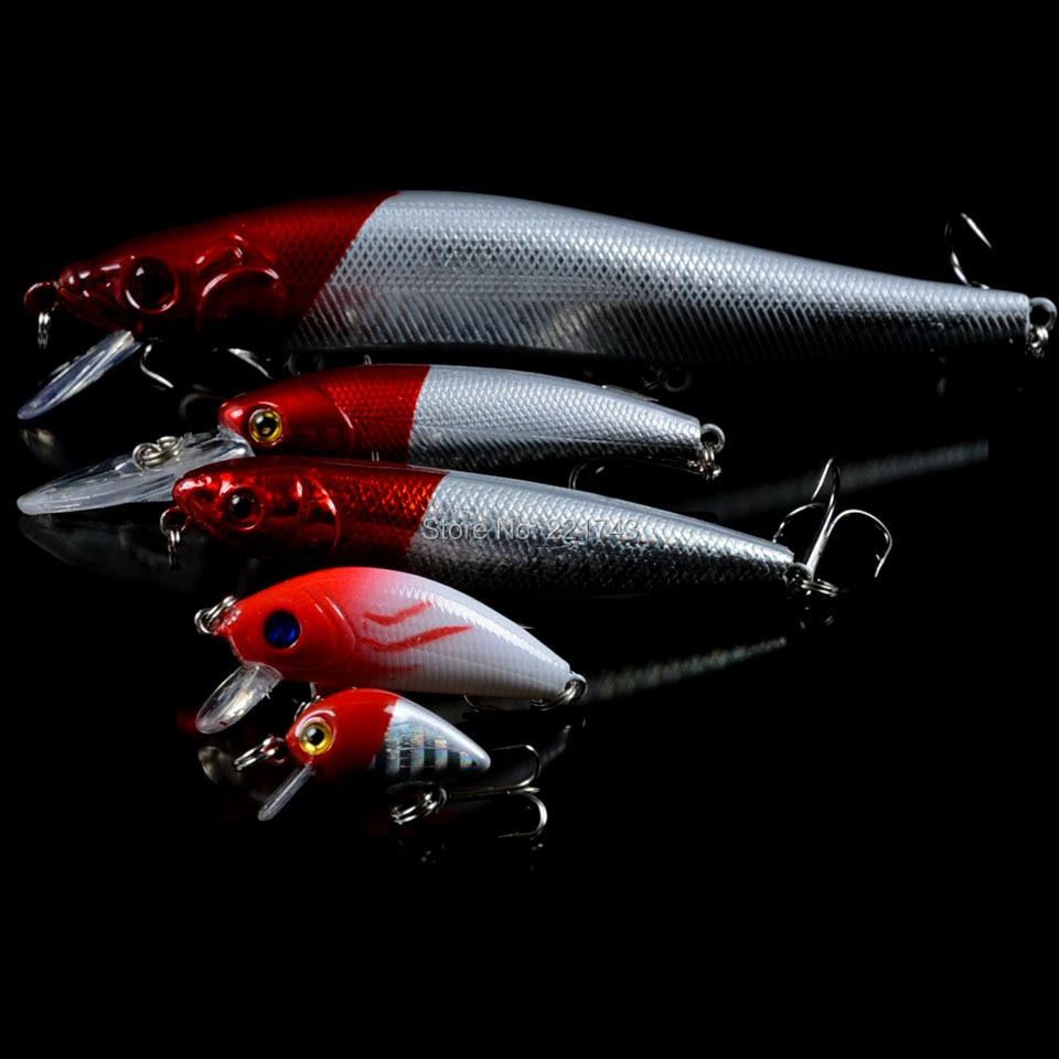 New Fishing Lures Set Mixed 5pcs/Lot Good Fishing Bait Mix Minnow/Pencil Lure and Crank Bait Jerkbait Hard Baits Wholesale 5pcs lot minnow crankbait hard bait 8 hooks lures 5 5g 8cm wobbler slow floating jerkbait fishing lure set ye 26dbzy