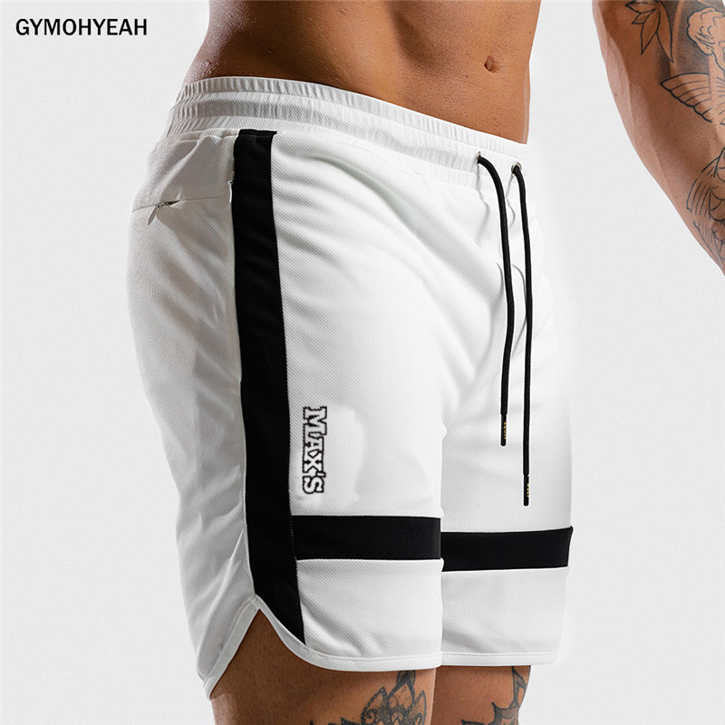NEW Fitness Sweatpants Shorts Man Summer Gyms Workout Male Breathable Mesh Quick dry Sportswear Jogger Beach Brand Short Pants 1
