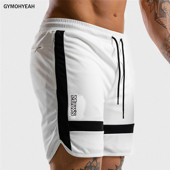 NEW Fitness Sweatpants Shorts Man Summer Gyms Workout Male Breathable Mesh Quick dry Sportswear Jogger Beach Brand Short Pants