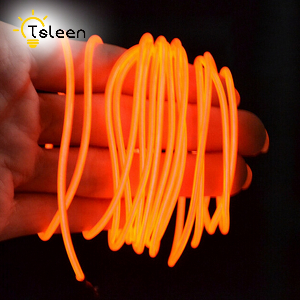TSLEEN 2xAA Batterien EL Draht Lampen Neon Licht Kabel 3 V 2,3, 5 ...