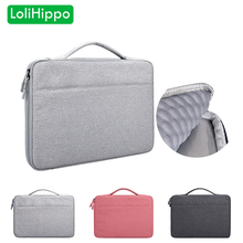 LoliHippo Portable Notebook Shockproof Briefcase for Mac Apple Dell Sony Huawei 13 14 15.6 Inch Universal Laptop Protective Bag