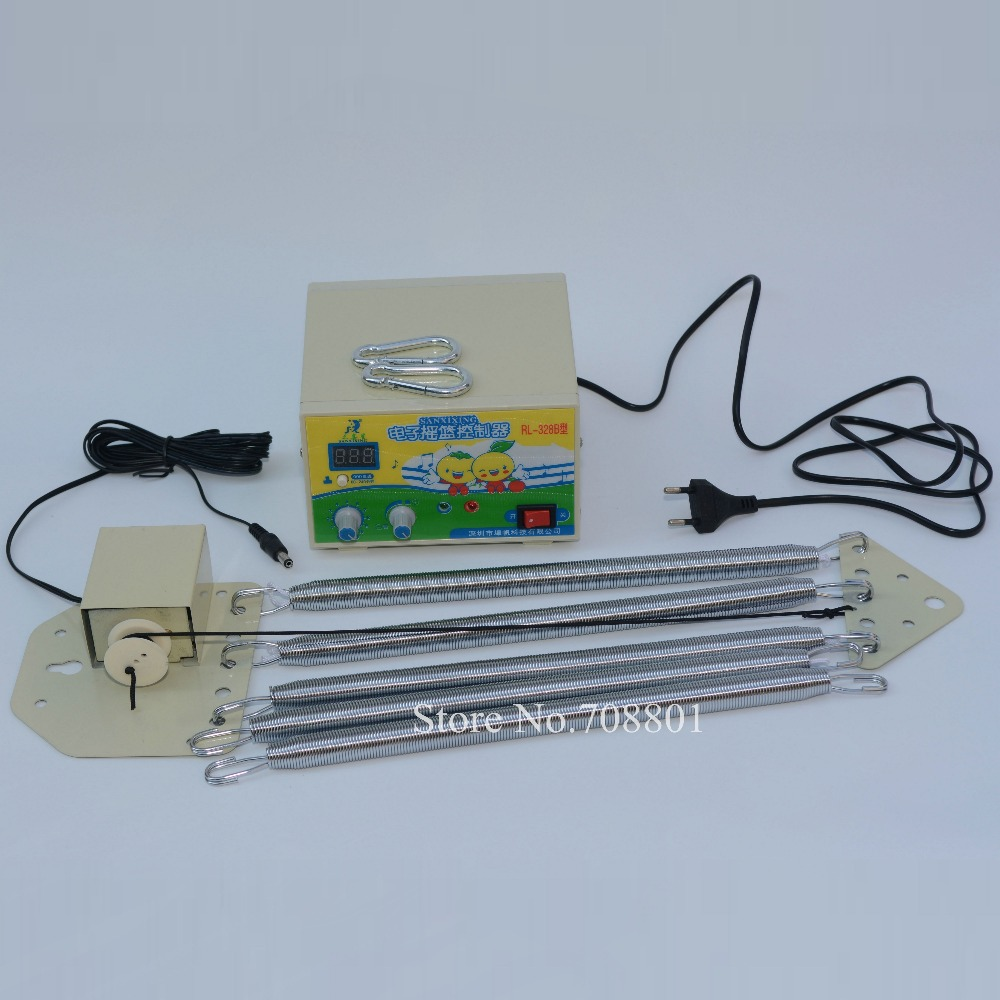 New 328B EU Plug Electric Baby Bed Swing Controller,  Electric Cradle Control Rocker, Electric Cot Cute Mammy Nanny Driver