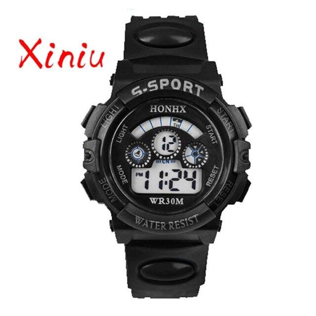 Honhx 2018 Children Watch Kids Boy Digital Quartz Date Fashion Sports Wristwatch Girl Watches Gifts Drop Shipping