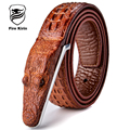 Мужские Ремни Роскошь Кожа Дизайнер Мужской Ремень Высокое Качество Ceinture Homme Cinturones Омбр Cinto мужской Крокодил Luxo 2017 B2