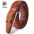 Correias dos homens De Luxo Dos Homens da Correia de Couro Designer de Alta Qualidade Luxo Crocodilo Cinto Masculino Ceinture Homme Cinturones Hombre 2017 B2