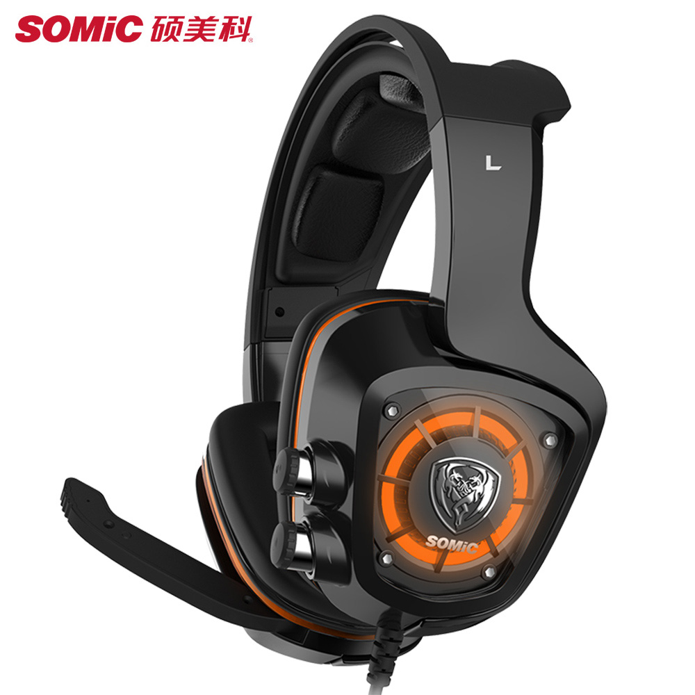 SOMIC G910 Virtual 7.1 surround sound Gaming Headset With Microphone Gamer Headphone For PS4 PSP Phone PC Laptop 3.5MM Earbuds somic g951 usb gaming headset 7 1 virtual surround sound headphone cat ear headsets with microphone for computer pc for women