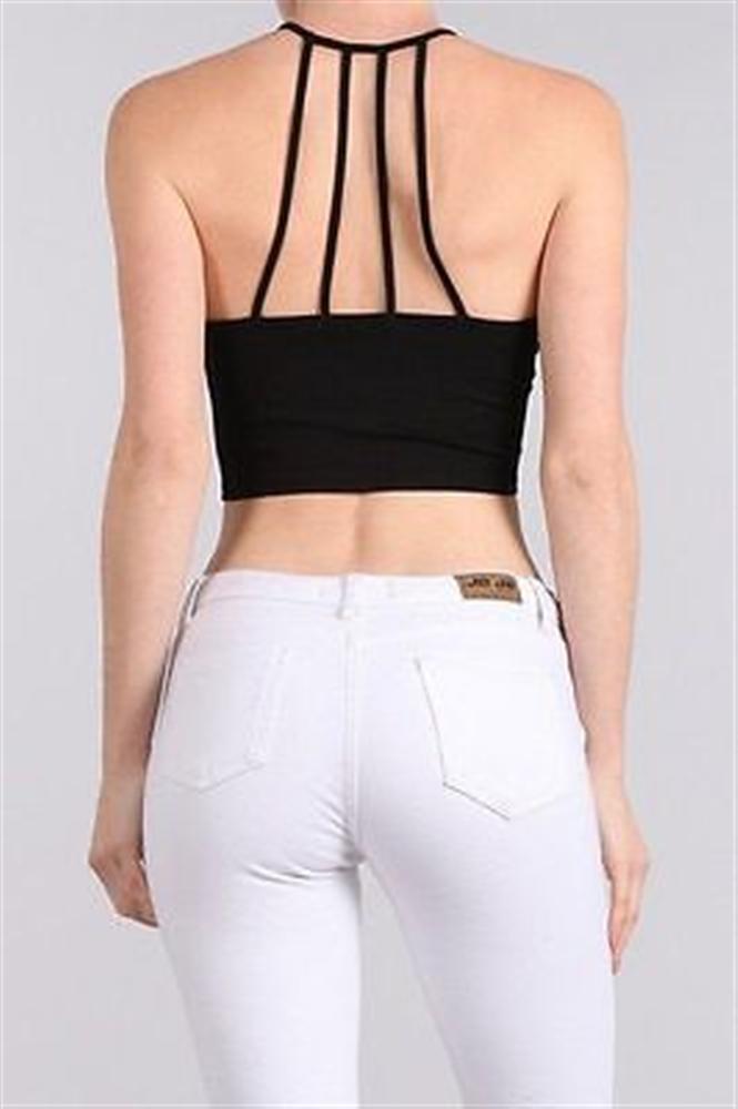 Fashion Summer Women Casual Bandage Halter Tank Tops Vest Tees Sleeveless Leotard Crop Tops Camis Shirts NEW