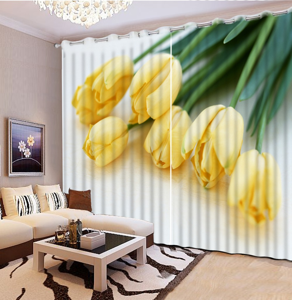 Top Classic 3D European Style home bedroom decoration flower curtain ...