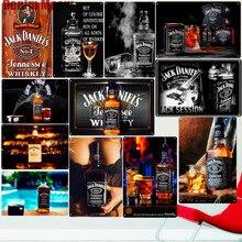 Jack Wine Whiskey винтажная металлическая жестяная вывеска для паба, бара, казино, домашний декор, пивная рекламная тарелка, постер, Настенная художественная наклейка N277