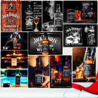 Jack Wine Whiskey Vintage Metal Tin Sign Pub Bar Casino Home Decor Beer Advertising Plate Painting Poster Wall Art Sticker N277