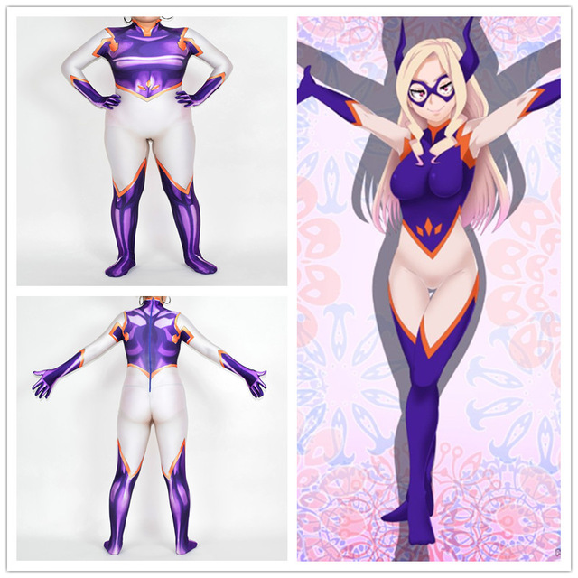 My Hero Academia Costumes Mt. Lady Jumpsuits Cosplay Halloween zenta Superhero Cosplay 3D Printed Lady Tights Show Costumes