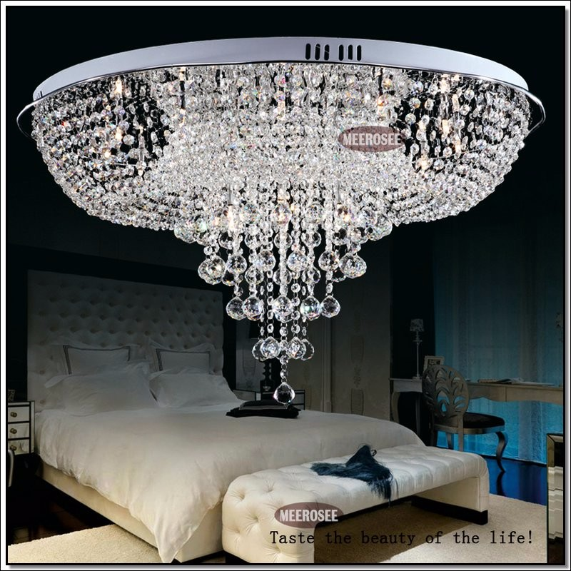 Crystal Ceiling Lights Fixture Modern Round Lustre Lamparas De Techo Crystal Stair Light Foyer Cristal Hallway Home Decoration
