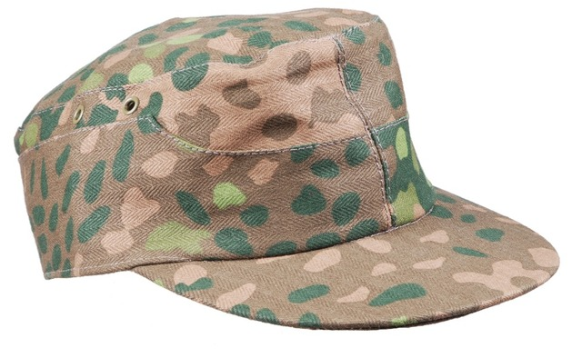 WW2 GERMAN ELITE DOT44 CAMO FIELD CAP HAT SIZE L-3333
