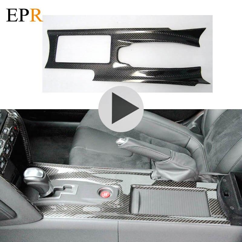 Intérieur de la voiture Accessoires R35 GTR Center Console Cover RHD Fiber De Carbone Car Styling Kit Carrosserie Pour Nissan R35 GTR Center Couvercle FC