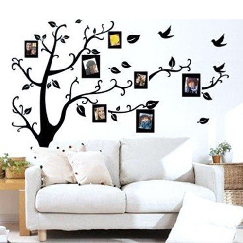 1PC Family Tree Wall Decal Remove Wall Stick Photo Tree Wall Stickers  Memory Tree Photo Frame