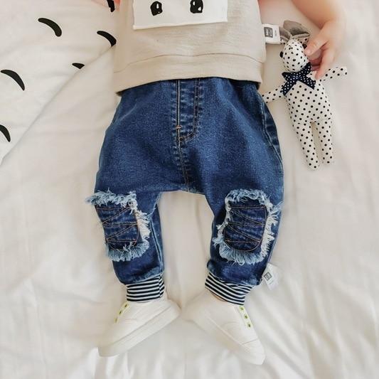 7d2668a169a Wholesale Baby Denim Pants Autumn Cotton Kids Trousers