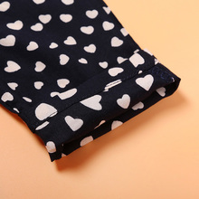 Fashion Summer Sleeveless Hearts Patterned Cotton Girl's Jumpsuit