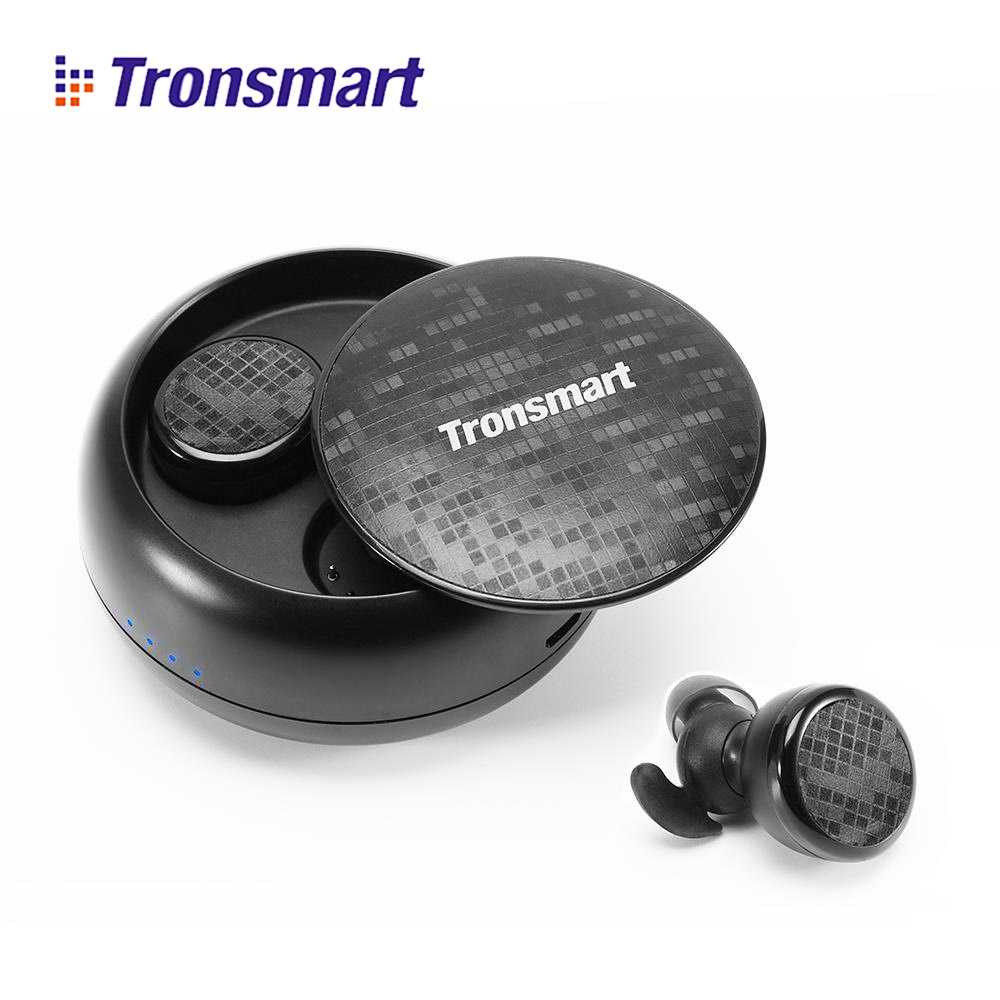 Tronsmart TWS Bluetooth Earphone True Wireless Stereo In-Ear Eurbuds Headset IPX5 Water Resistant with Mic for xiaomi huaweiTronsmart TWS Bluetooth Earphone True Wireless Stereo In-Ear Eurbuds Headset IPX5 Water Resistant with Mic for xiaomi huawei