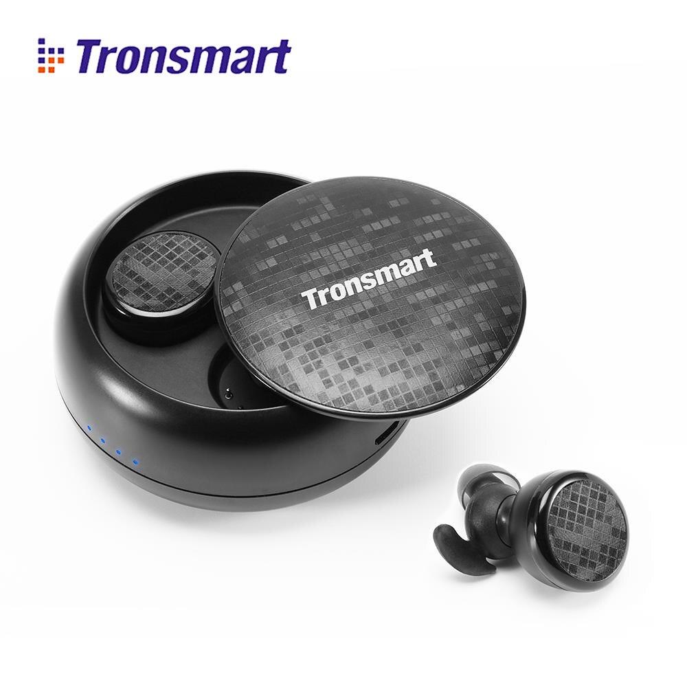 Tronsmart TWS Verdadeiro IPX5 Eurbuds fone de Ouvido Estéreo fone de Ouvido Sem Fio fone de Ouvido Bluetooth Resistente À Água com Microfone para xiaomi huawei