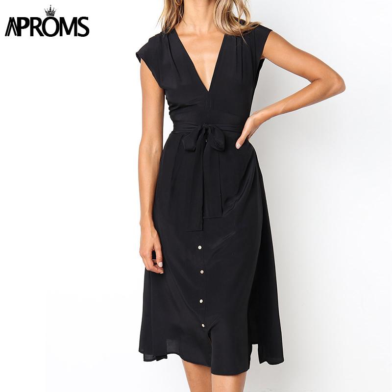 Aproms Vintage Stripe Print Midi Dress Women Elegant Deep V Sash Tie Up Bodycon Dresses Female Summer Streetwear Sundresses 19 9