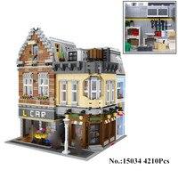 H & HXY в наличии 15034 4210 шт. натуральная серии Moc новое здание город Набор строительных Конструкторы кирпичи Лепин игрушка модель рождественски