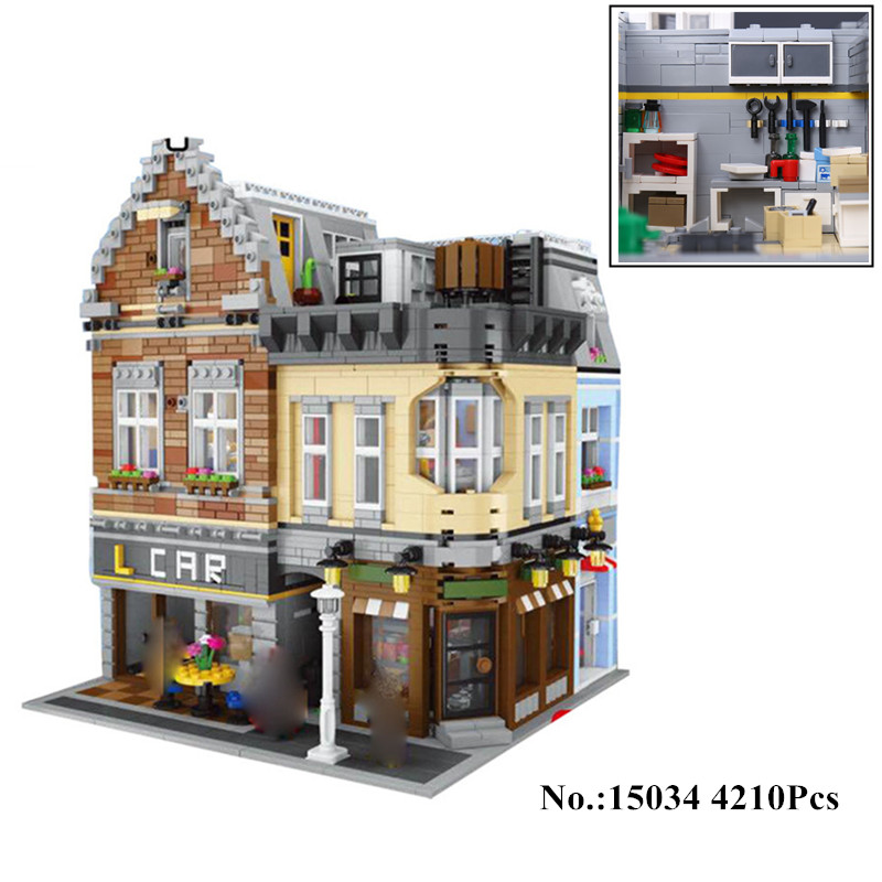 H&HXY IN STOCK 15034 4210Pcs Genuine Series MOC The New Building City Set Building Blocks Bricks LEPIN Toy Model Christmas Gifts new in stock ve j62 iy vi j62 iy