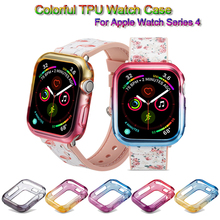 Colorful Watch Case For Apple 4 Soft Slim TUP Cover iwatch 44mm 40mm Protective Bands Accessories