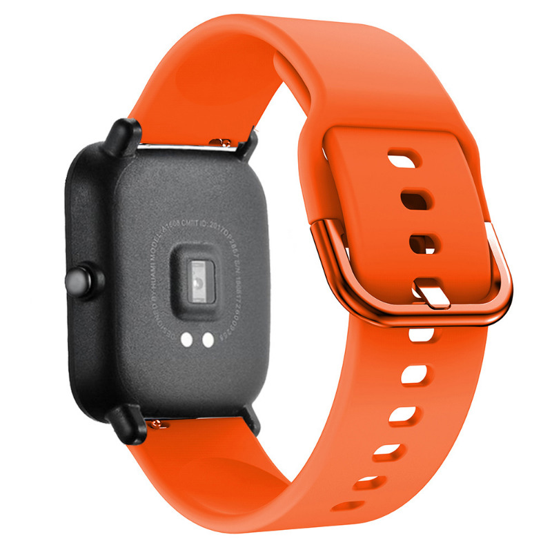 Mijobs 20MM Silicone Watch Strap For Xiaomi Huami Amazfit Bip Watchband Bracelet Samsung Galaxy Active Garmin vivoactive 3 in Smart Accessories from Consumer Electronics