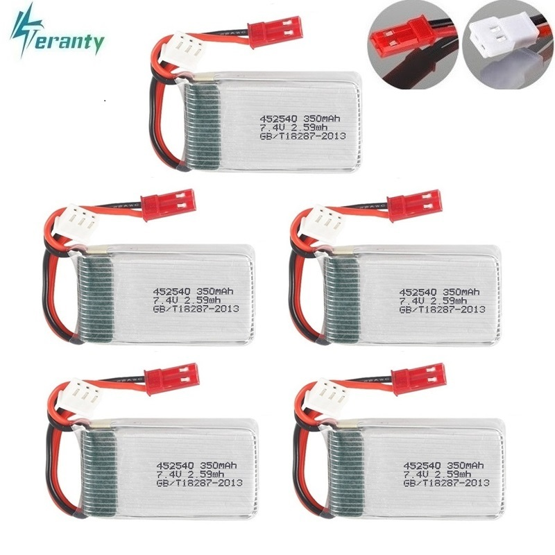 <font><b>2s</b></font> 7.4v <font><b>350mah</b></font> 35C Lipo Battery for MJX X401H X402 JXD 515 515W 515V Battery RC Mini FPV Drone Quadcopter Helicopters 5pcs/lot image