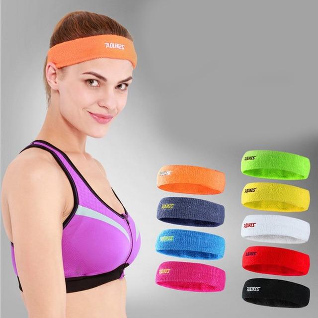 13c282ec388f Men Women Soft Headband Sweatband Breathable Embroidered Sweat Bands  Elastic Weave Badminton Sports Gym Hair Band 2018 CYJA-2108