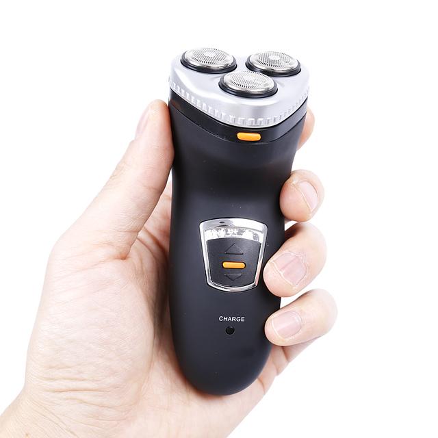 De alta precisión de Malla 3 Jefes máquina de Afeitar de Los Hombres máquina de Afeitar Eléctrica Recargable Lavable para hombres máquina de afeitar del pelo trimmer