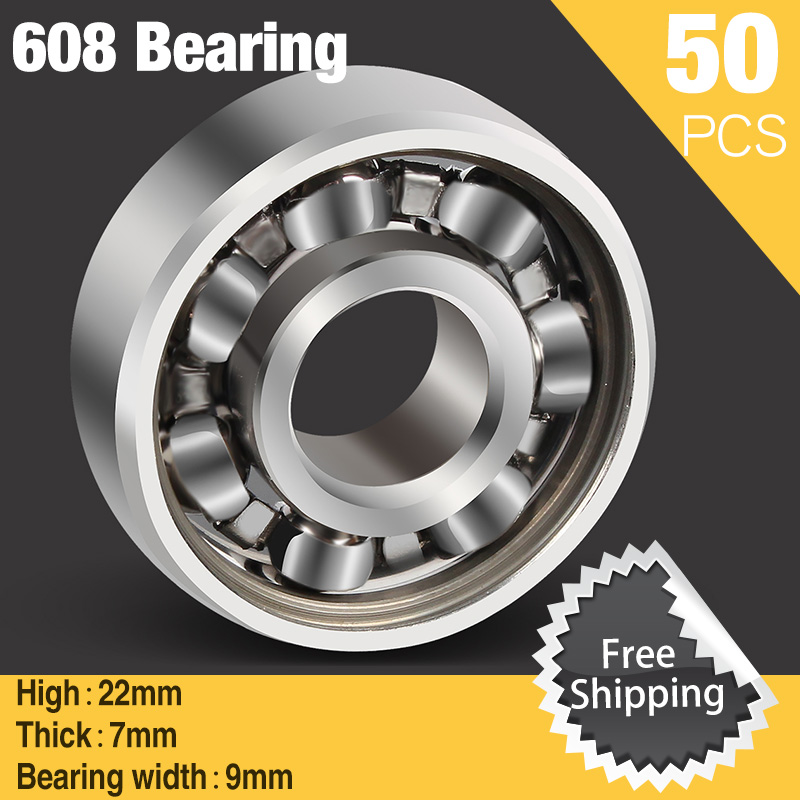50pcs 608 Bearing For Fidget Spinner EDC Fingers Spinner Toys Sensory Fidget Spinners Autism ADHD Hand Spinnering Anti Stress  50pcsnew pattern colorful hand tri spinner fidgets toy torqbar alloy edc sensory fidget spinners for autism and kids adult funny