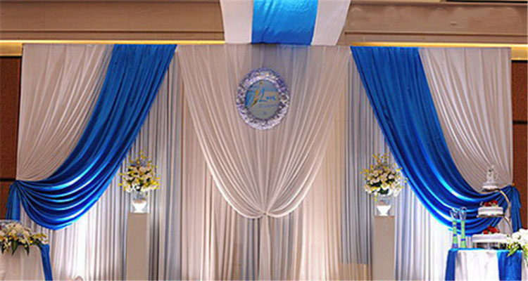 Curtains ideas church backdrop curtains inspiring for Background curtain decoration