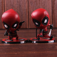 Lendas maravilha Deadpool 2 Deadpool Q Versão PVC Action Figure Collectible Modelo Toy Boneca(China)