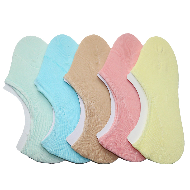 Image 3 - 3Pairs Low Cut Invisible Socks Summer For Women Slippers Women Boat Socks Short Thin Meias Female Anti Slip Cute Socks Slipper-in Sock Slippers from Underwear & Sleepwears