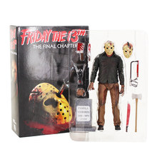 NECA Jason Voorhees Friday the 13th O Capítulo Final PVC Figure Toy Collectible 19 cm KT4069(China)