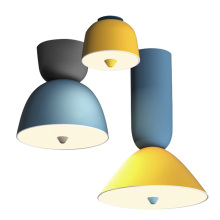 Designer Creative nordic Post modern ceiling lights simple dining room bar bedroom macaron LED Ceiling mounted lamps